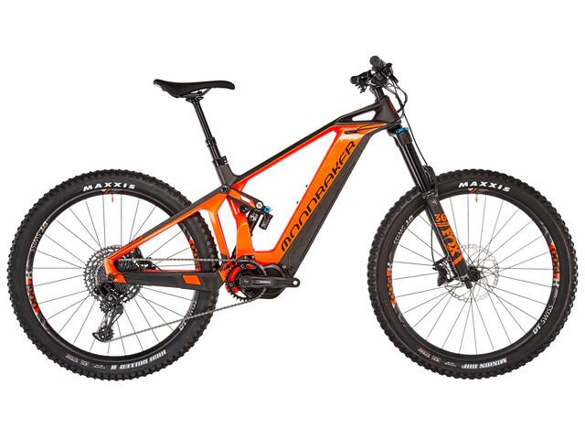 Mondraker Crusher R+ Bicicletta elettrica Full Suspension arancione/nero